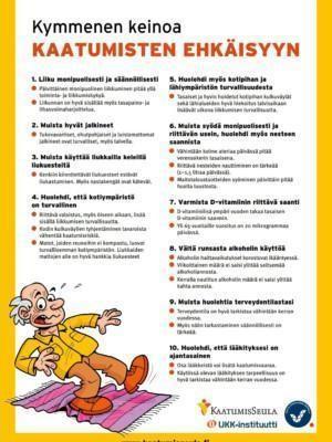 10 keinoa kaatumisten ehkäisyyn -esite.
