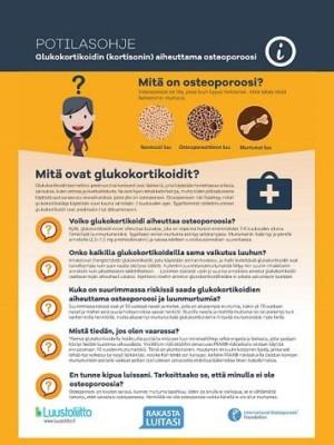 Glukokortikoidin (kortisonin) aiheuttama osteoporoosi