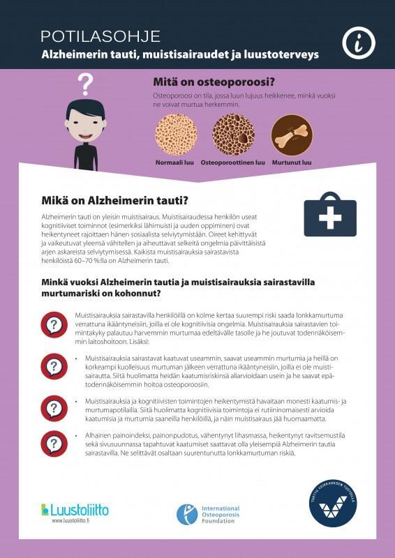 Alzheimerin tauti, muistisairaudet ja luustoterveys