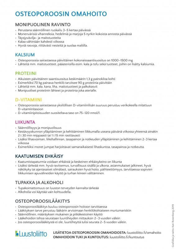 Osteoporoosin omahoito