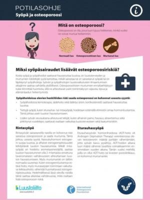 Syöpä ja osteoporoosi